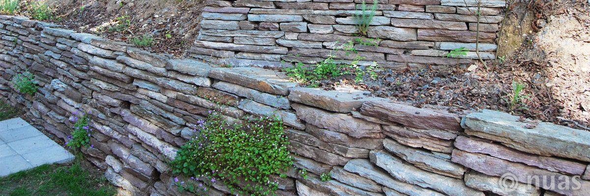 Trockenmauer - nuas® für Landschaftsbauer