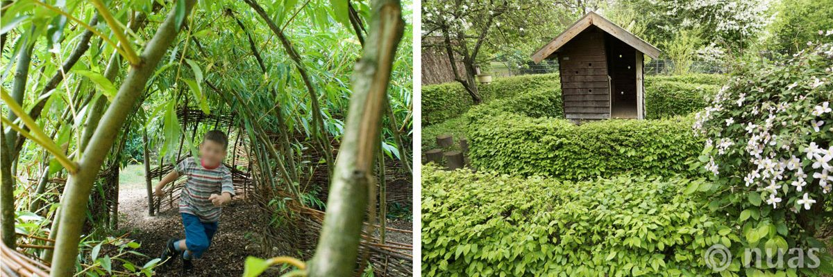 Weidentunnel und Heckenlabyrinth - nuas® für Landschaftsbauer