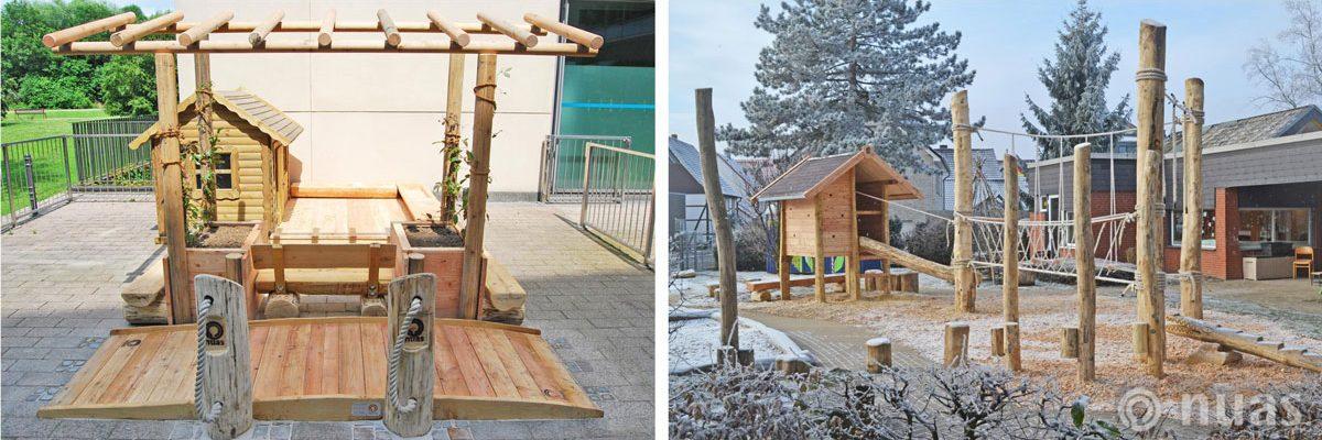 Kleines U3 Außengelände und Seillandschaft mit Gipfelhaus - nuas® für Landschaftsbauer
