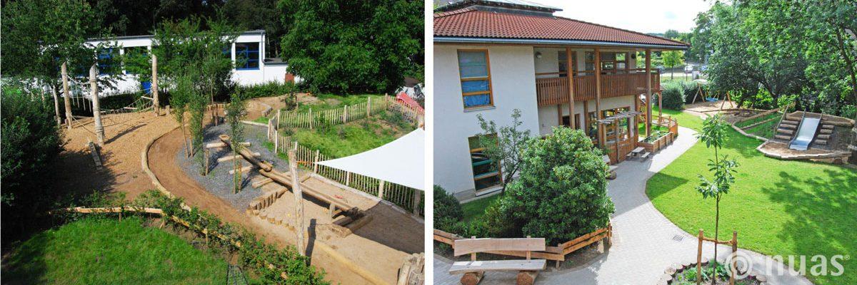 Landschaftbau Gesamtgestaltung aus Robinienholz - nuas® für Landschaftsbauer