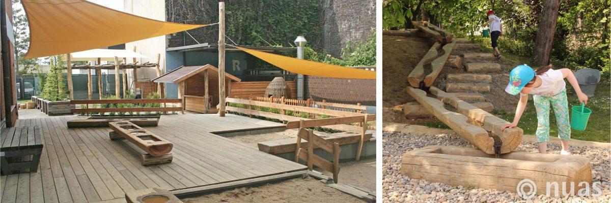 Spiellandschaft auf versiegelter Fläche - nuas® für Architekten