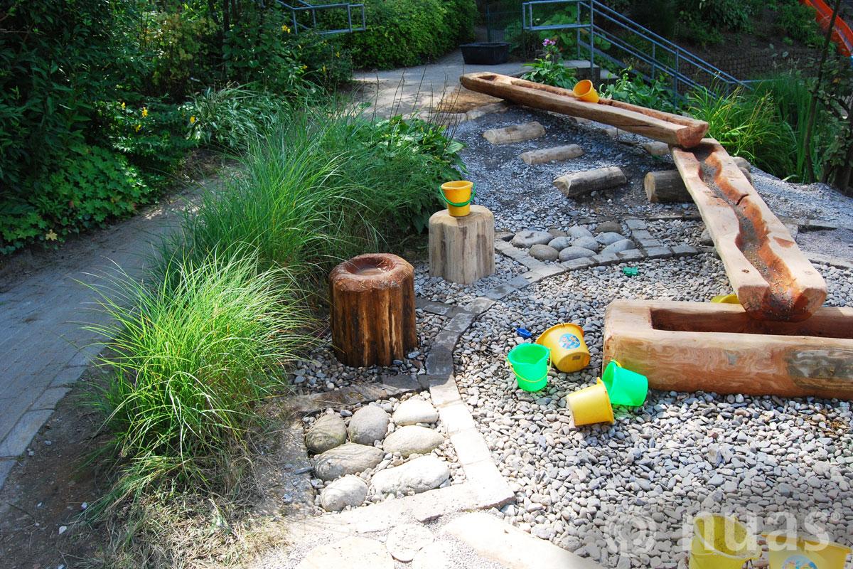 Wasser sprudelt trägt und kühlt - nuas® Wasserspiellandschaft