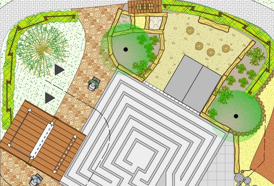 nuas Zeichnung Dorfplatz_ Haan